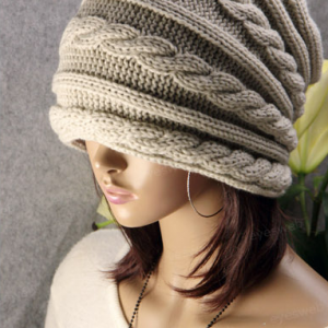 Twist thick wool hat