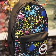 Color graffiti shoulder bag schoolbags canvas travel backpack